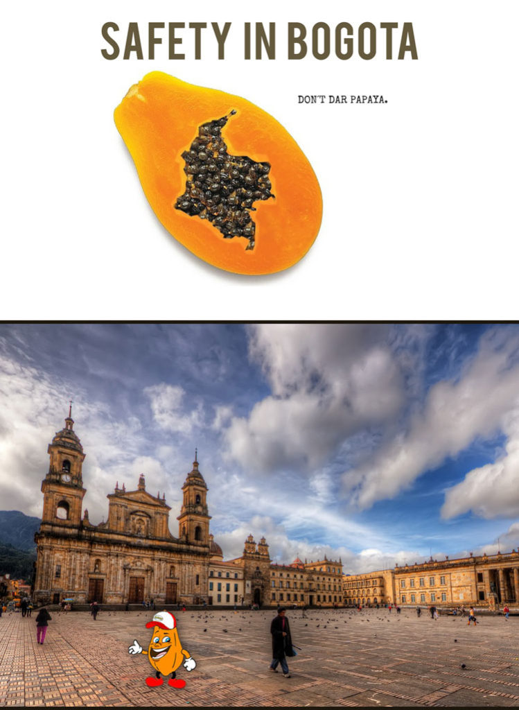 Safety in Bogota - No Dar Papaya